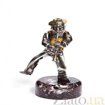 Серебряная статуэтка с позолотой Флейтист 501