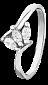 Серебряное кольцо с фианитами Джерда 000025784