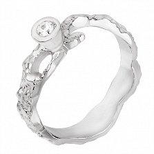 Серебряное кольцо Иллирия с цирконием