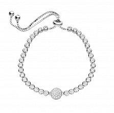 Серебряный браслет Стефания с кристаллами циркония