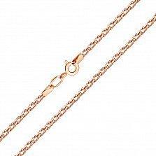 Золотая цепь Ливис в плетении ромб, 2мм