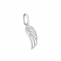 Серебряная подвеска Ажурное крыло с родиевым покрытием 000080009