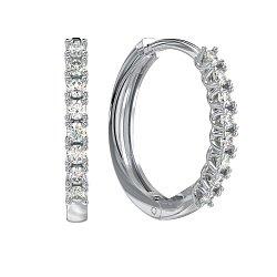 Золотые серьги Андреа с бриллиантами