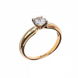 Кольцо из красного золота с бриллиантом Eleanor