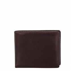 Кожаный кошелек-книжка Genuine Leather gf13 вишнево-коричневого цвета