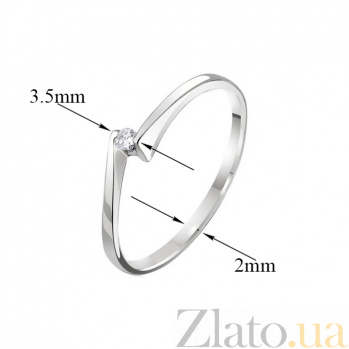 Кольцо из белого золота с бриллиантом Встреча EDM--КД7381/1
