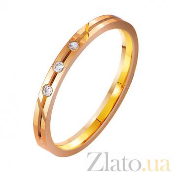 Золотое обручальное кольцо Желание с фианитами TRF--4121283