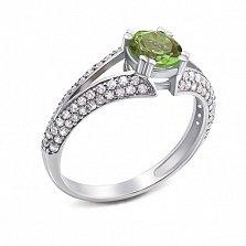 Серебряное кольцо Юлианна с хризолитом