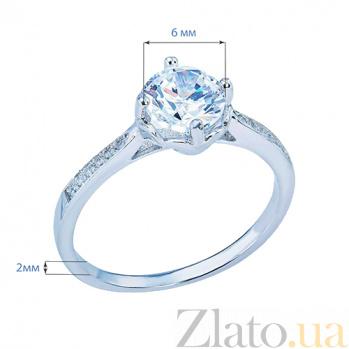 Помолвочное кольцо из серебра с фианитами Делис AQA-DS-055