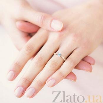 Кольцо с бриллиантом Мой милый ангел: Бережное касание из розового золота 227