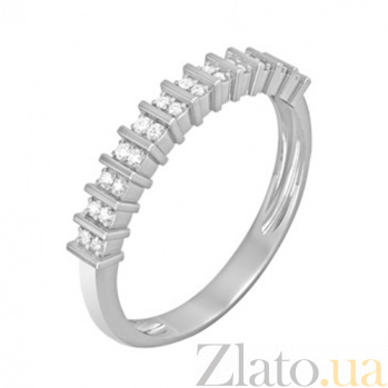 Золотое кольцо с бриллиантами Олимпия KBL--К1103/бел/брил