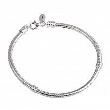 Серебряный браслет для шармов Патриция, 19см