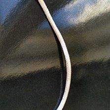 Шелковый шнурок цвета шампань с серебряной застежкой,2мм