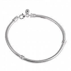 Серебряный браслет для шармов Патриция