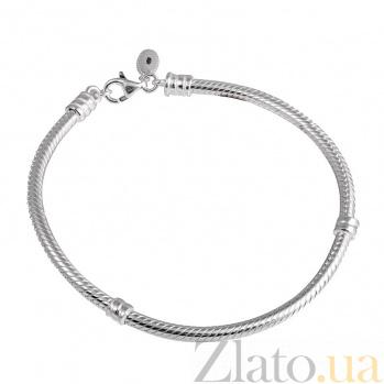 Серебряный браслет для шармов Патриция, 19см 000026262
