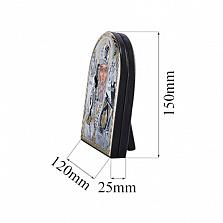 Серебряная икона Николай Чудотворец с позолотой