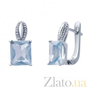 Серебряные серьги с цирконами Нонна AQA--R0628-E_akv
