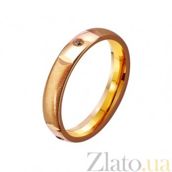 Золотое обручальное кольцо с фианитами Город любви TRF--4121144