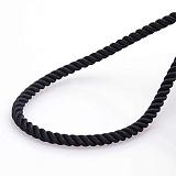 Рельефный шелковый шнурок Спаси и сохрани с серебряной позолоченной застежкой, 4мм