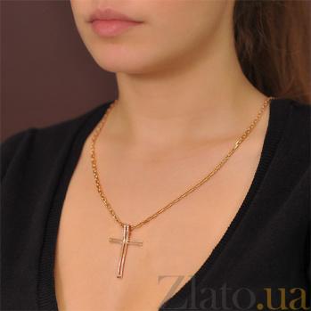 Декоративный крестик Грань с фианитами EDM--КР0134