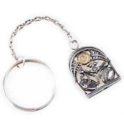Серебряный брелок Знак зодиака Весы с позолотой 000004666