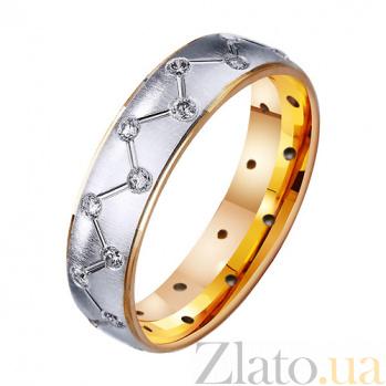 Золотое обручальное кольцо с фианитами Остров любви TRF--412410