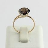 Золотое кольцо с раухтопазом Селесте