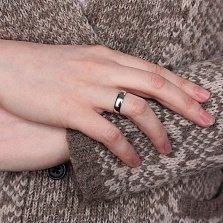 Обручальное кольцо из серебра Лилия