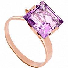 Золотое кольцо с аметистом Ирма