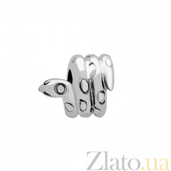 Серебряный шарм Питон 3Н203-0353
