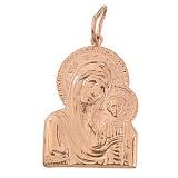 Золотая фигурная ладанка Божья Матерь