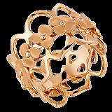 Кольцо в розовом золоте Hortensia