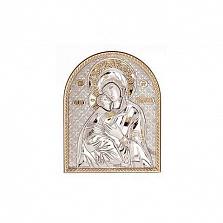 Икона Владимирская серебряная с позолотой