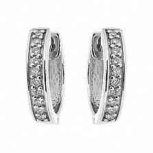 Серебряные серьги с бриллиантами Denese