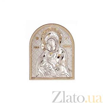Икона Владимирская серебряная с позолотой AQA--09132222