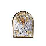 Серебряная икона Семистрельная Божья матерь