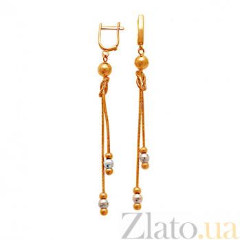 Золотые серьги-подвески Арабель 000023910