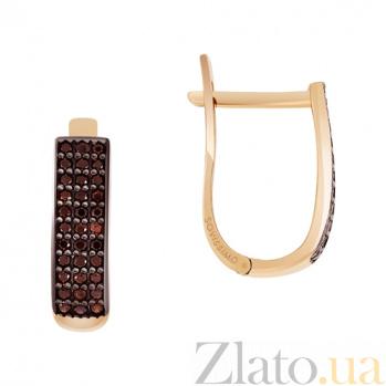 Золотые серьги с фианитами Гюзель SVA--2730971/Фианит/Цирконий
