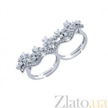 Серебряное кольцо на два пальца Калантия AQA--XJR-0273-1