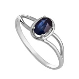 Золотое кольцо с сапфиром Жозефин