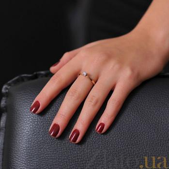 Золотое кольцо с бриллиантом Милдрет EDM--КД7532