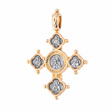 Серебряный крест с позолотой и чернением Посвящение