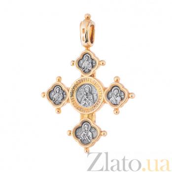 Серебряный крест с позолотой и чернением Посвящение ONX--131641