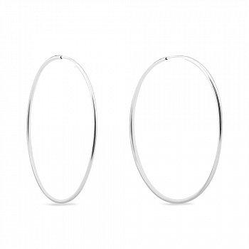 Серебряные серьги-конго Ø 32 мм  000149530