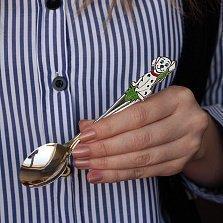 Серебряная ложка с эмалью Далматин