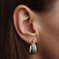 Серебряные серьги Альцеста с алмазными гранями, диам. 2мм