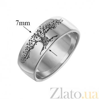 Серебряное обручальное кольцо Древо Мира 000056715
