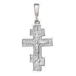 Серебряный крестик Символ вечности