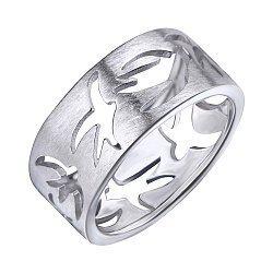 Серебряное кольцо Птицы счастья 000087874