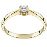 Помолвочное кольцо из желтого золота Королевский цветок с бриллиантом 3,0мм